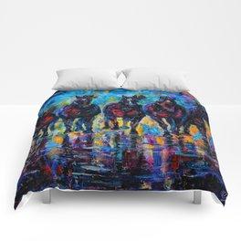 Roaming Free by OLenaArt/ Lena Owens Comforters