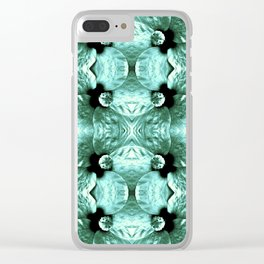 Shiny Green Flower Design, Pattern Clear iPhone Case