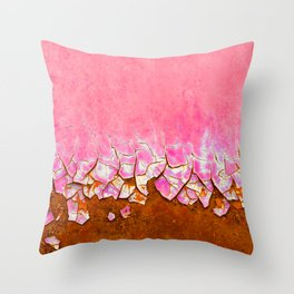 Pink and Rust Throw Pillow