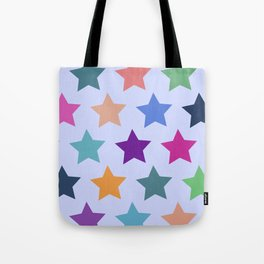 Colorful Stars Tote Bag