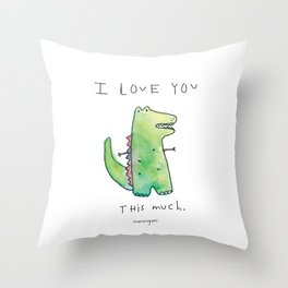This Much Throw Pillow