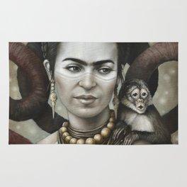Hommage à Frida Kahlo 3 Rug