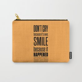 Lab No. 4 - Dr.Seuss smile life Inspirational quote Poster Carry-All Pouch