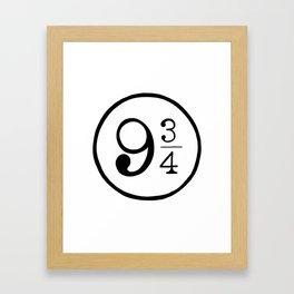 Platform 9 3/4 Nine And Three Quarters Framed Art Print