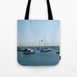 Chicago Sail Boats, Lake Michigan Shoreline Tote Bag