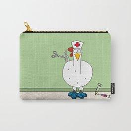 Eglantine la poule (the hen) dressed up as a nurse. Carry-All Pouch