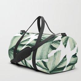 Tropical Banana Leaves Vibes #1 #foliage #decor #art #society6 Duffle Bag