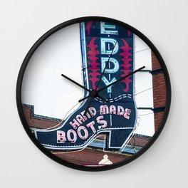 Leddy Boots Fort Worth Texas Stockyards Wall Clock