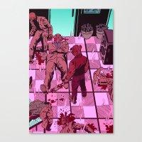 hotline miami Canvas Prints featuring Hotline Miami by JD Faith