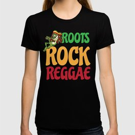 Roots Rock Reggae | Jamaican Rasta Stoner Roots and Spliff Culture T-shirt