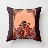 jjba Throw Pillows featuring magician by vvisti