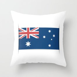 Flag of Australia. The slit in the paper with shadows.  Throw Pillow
