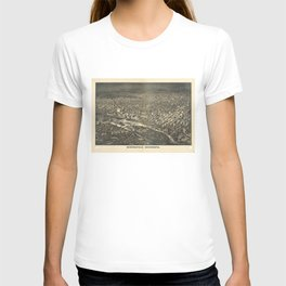 Aerial View of Minneapolis, Minnesota (1885) T-shirt