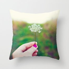 Hold My Flower Throw Pillow