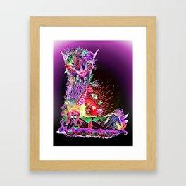 L - deep violet Framed Art Print
