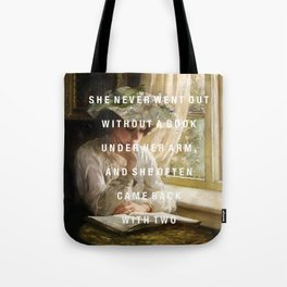 never without a book Tote Bag