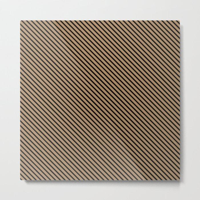 Iced Coffee and Black Stripe Metal Print