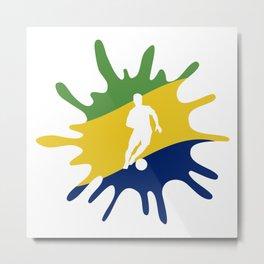 The Flag of Brazil II Metal Print