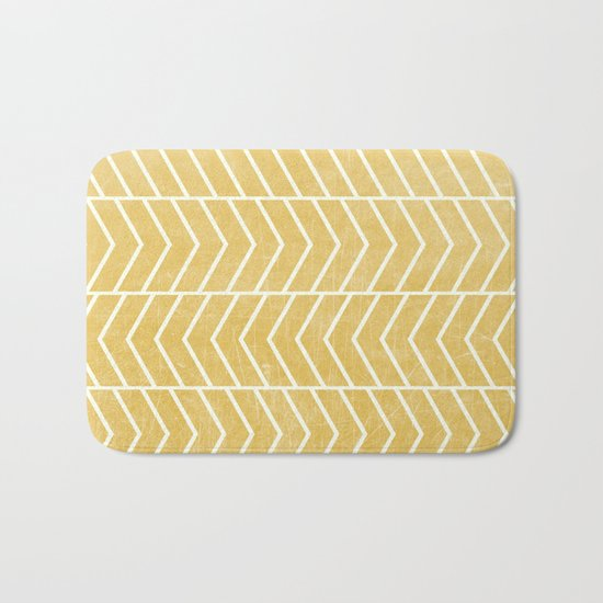Yellow Chevron Bath Mat