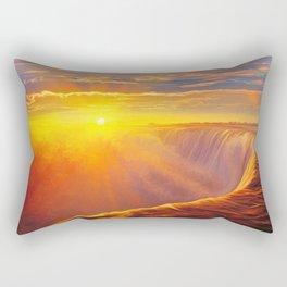 Sunlight waterfall Rectangular Pillow