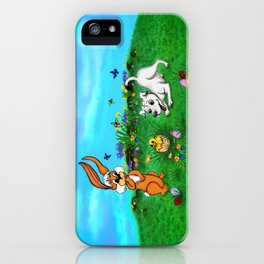 Easter - Spring-awakening - Puppy Capo with Rabbit and Chick iPhone Case