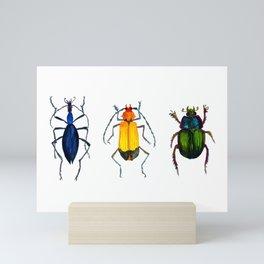 Watercolor Beetles Mini Art Print