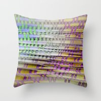 breathe Throw Pillows featuring Breathe by mimulux