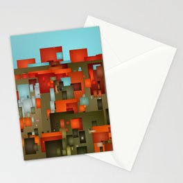 Abstract city in color by lh Stationery Cards