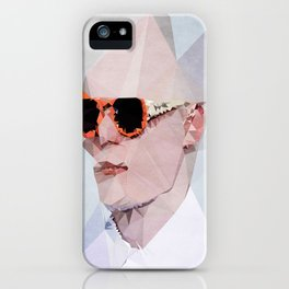 Couple with Glasses (Him) - Kubistika by Boris Draschoff iPhone Case