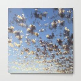 Summer Sunrise Clouds Metal Print