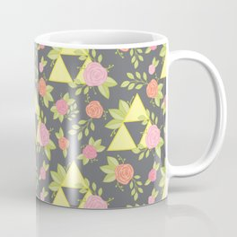 Garden of Power, Wisdom, and Courage Pattern in Grey Coffee Mug