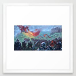 Dragon Battle Framed Art Print