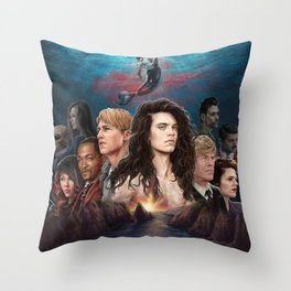 This Side of the Blue Throw Pillow