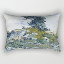 Vincent Van Gogh - Rocks with Oak Tree Rectangular Pillow