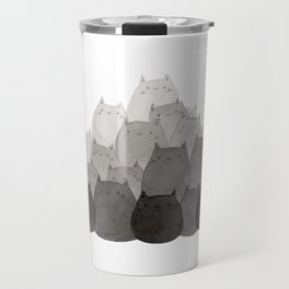 Kitty Pile Travel Mug