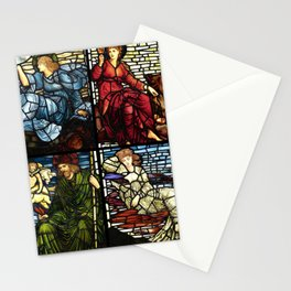 """Edward Burne-Jones """"Stained glass collection"""" Stationery Cards"""