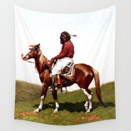 "Western Art ""Comanche Brave"" by Frederic Remington Wall Tapestry"