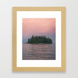 Lonely Island on Lac Saint-Jean Framed Art Print
