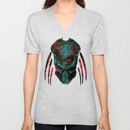 Soldier Predator Red Teal Unisex V-Neck