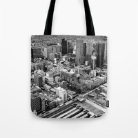 melbourne Tote Bags featuring Melbourne by kazmcart