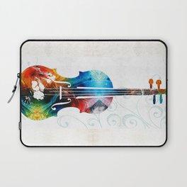 Colorful Violin Art by Sharon Cummings Laptop Sleeve