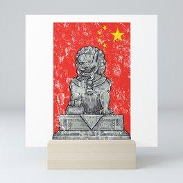 Lion Vintage Statue Mini Art Print