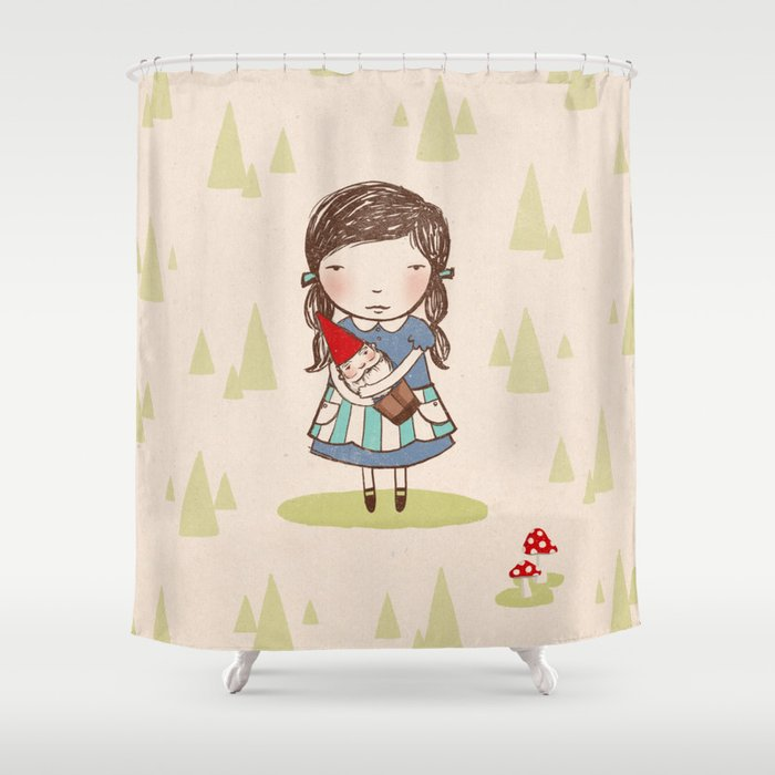 Gnome Girl Shower Curtain