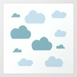 Cloud blue Art Print