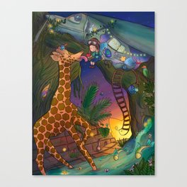 The Lone Explorer Canvas Print
