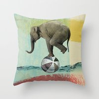 balance Throw Pillows featuring Balance by Vin Zzep