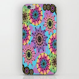 Vibrant Abstract Floral Pattern iPhone Skin