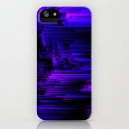 Ultraviolet Light Speed - Abstract Glitch Pixel Art iPhone Case