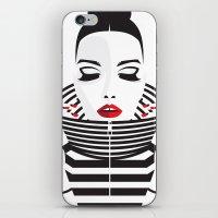striped iPhone & iPod Skins featuring striped by Yordanka Poleganova