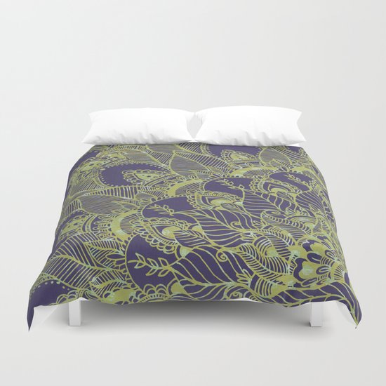 Green Garden  Duvet Cover